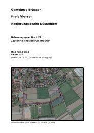 B-Plan Bra/27 - Begründung mit Umweltbericht ( PDF - Brüggen