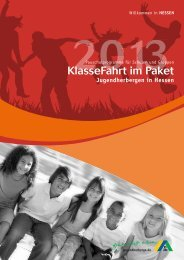 KlasseFahrt 2013 - Jugendherbergen in Hessen