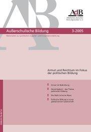 Außerschulische Bildung Nr. 3/2005 (pdf-Datei, 1 - Arbeitskreis ...
