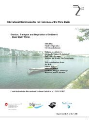 International Commission for the Hydrology of the Rhine ... - CHR-KHR