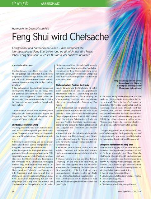 Feng Shui Schreibtisch Ausrichtung 2021
