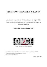 Rights of the Child in Kenya - World Organisation Against Torture