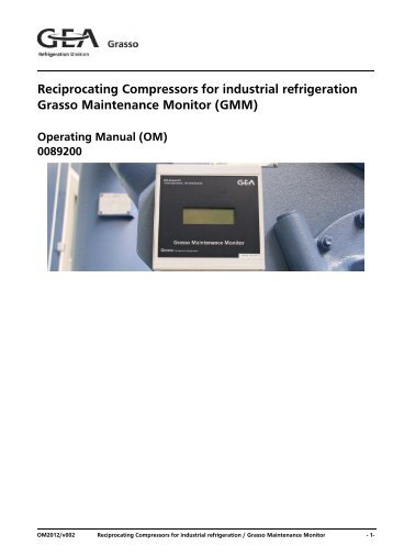 Reciprocating Compressors for industrial refrigeration Grasso ...