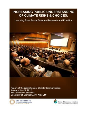 increasing public understanding of climate risks & choices