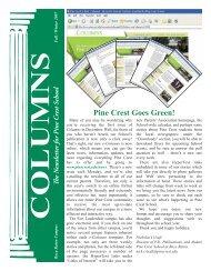 Pine Crest Goes Green! - Pine Crest School