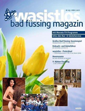 wasistlos badfüssing-magazin - Ausgabe März 2011 - Badfuessing ...
