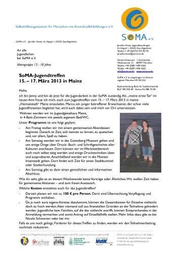 Einladung und Anmeldung - SoMA eV