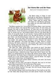 Der kleine Bär und der Hase
