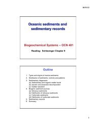 Oceanic sediments and sedimentary records - SOEST