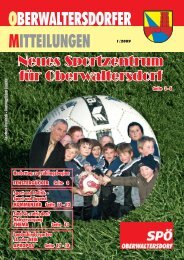 oberwaltersdorfer mitteilungen 1/2009 - SPOE Oberwaltersdorf