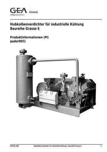 Hubkolbenverdichter für industrielle Kühlung Baureihe Grasso 6