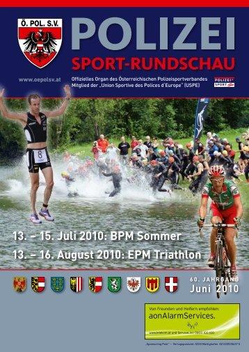 2010_Ausgabe_6_Juni - Österreichischer Polizeisportverband