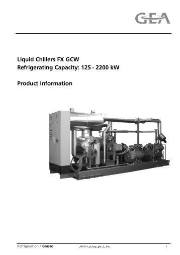 Liquid Chillers FX GCW - GEA Refrigeration Technologies