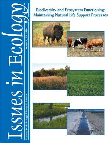 Biodiversity and Ecosystem Functioning - Ecological Society of ...