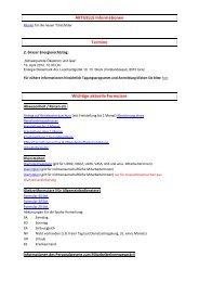 AKTUELLE Informationen Termine Wichtige aktuelle Formulare