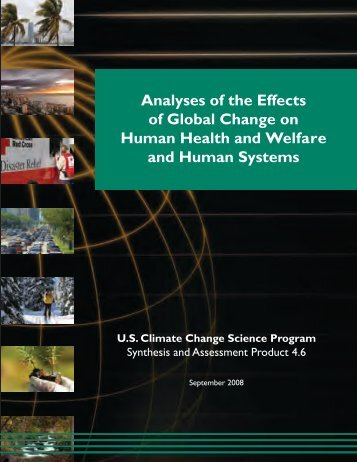 Analyses of the Effects of Global Change on - US Climate Change ...