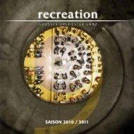SaiSon 2010 / 2011 - recreation - GROSSES ORCHESTER GRAZ