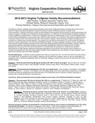 2012-2013 Virginia Turfgrass Variety ... - Virginia Tech