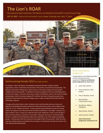 October 2012 - Penn State Army ROTC - Pennsylvania State ...
