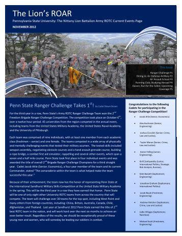 November 2012 - Penn State Army ROTC - Pennsylvania State ...