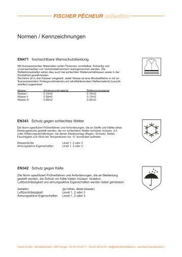Normen / Kennzeichnungen - FISCHER & Coag