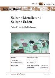 Seltene Metalle und seltene Erden (Midas - Kontakt