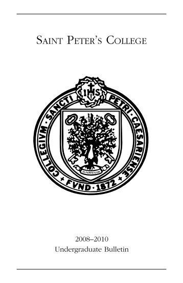 2008-2010 Undergraduate Catalog - Saint Peter's University