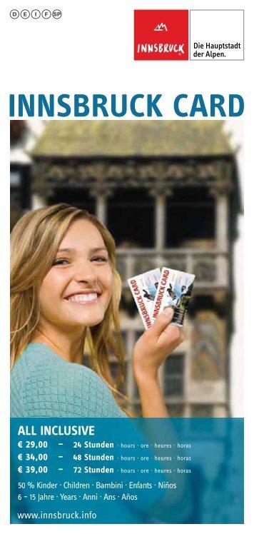 INNSBRUCK CARD - AlpinLodges