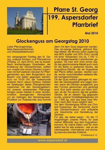 Pfarre St. Georg 199. Aspersdorfer Pfarrbrief - Pfarre Aspersdorf