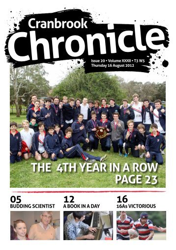 The sports pages - Cranbrook School