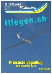 Preisliste Segelflug 2012