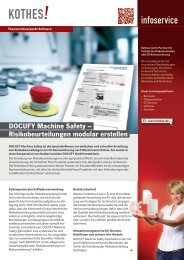 Infoservice DOCUFY Machine Safety - Kothes!