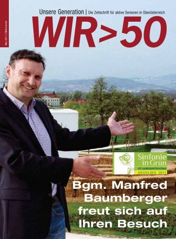 Bgm. Manfred Baumberger freut sich auf Ihren Besuch