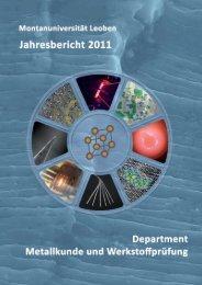Jahresbericht 2011 - Department Metallkunde und Werkstoffprüfung ...