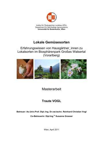 Vogl T. - Institut für ökologischen Landbau - Boku
