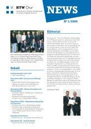 Magazin HTW News (1. Ausgabe, Januar 2009) - HTW Chur