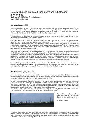 Treibstoffindustrie im WK II - Althofen