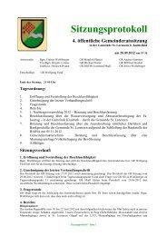 Protokoll vom 28.09.2012 - St. Lorenzen bei Knittelfeld