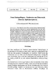Neue Eintagsfliegen - Nachweise aus Österreich (Insecta ...