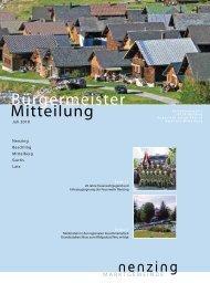 Bürgermeistermitteilung 10/02 - Marktgemeinde Nenzing