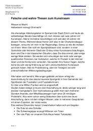 falsche und wahre Thesen zum Kunstrasen - Fksportbau.ch