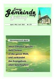 Gemeindebrief 172 April-Juni 2012_01 - Evangelischer ...