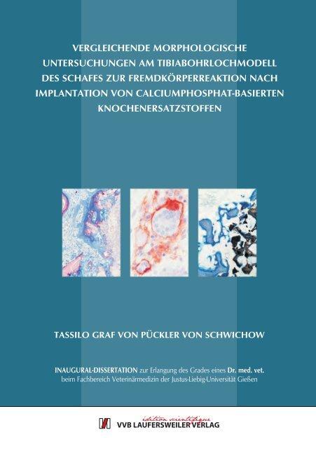 Vergleichende morphologische Untersuchungen - Zur Giessener ...