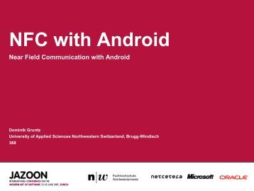 NFC with Android - Fachhochschule Nordwestschweiz