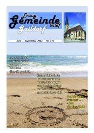 Gemeindebrief 173_01 - Evangelischer Kirchenbezirk Gaildorf