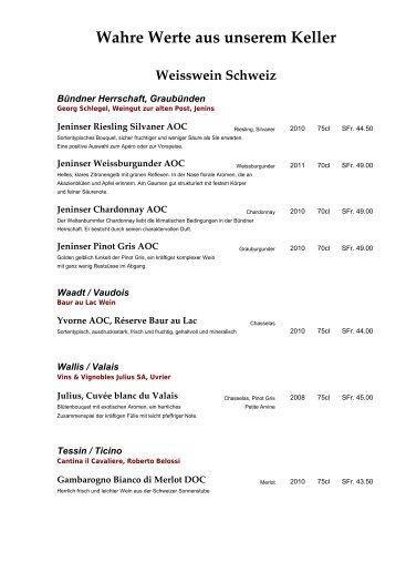 Rotwein Italien - Restaurant Florians Weinstube