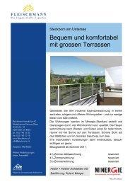 Bequem und komfortabel mit grossen Terrassen - Fleischmann ...
