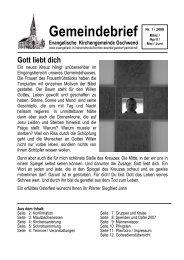 Gemeindebrief 2008-1 - Evangelischer Kirchenbezirk Gaildorf