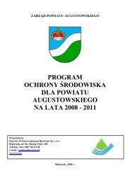 Program Ochrony Środowiska dla Powiatu Augustowskiego na lata