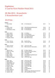18. Lausitzer Citylaufes vom 09.05.2009. Niederlausitzcup